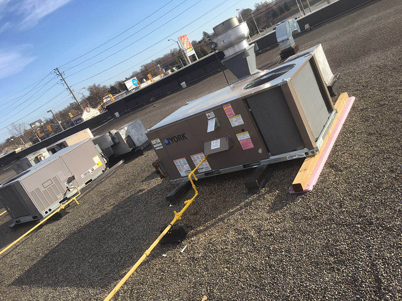 completed rooftop installation unit 1