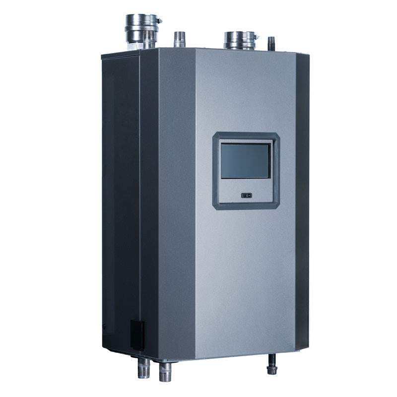 NTI Max Input: 399,000 BTU/H Stainless steel down-fired fire tube heat exchanger. Image