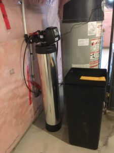 completed installation for carbon filter